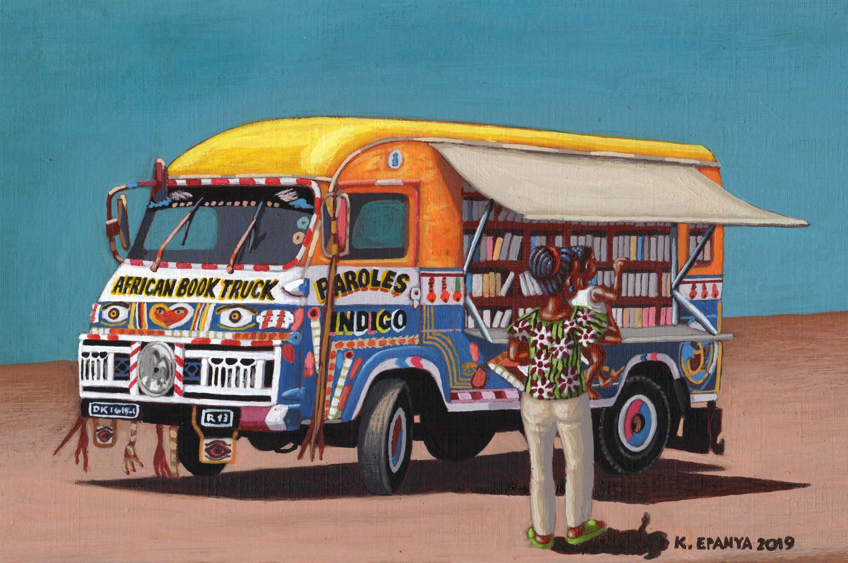 african book truck sign couleur1